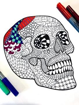 Zentangle'd Coloring Sheet