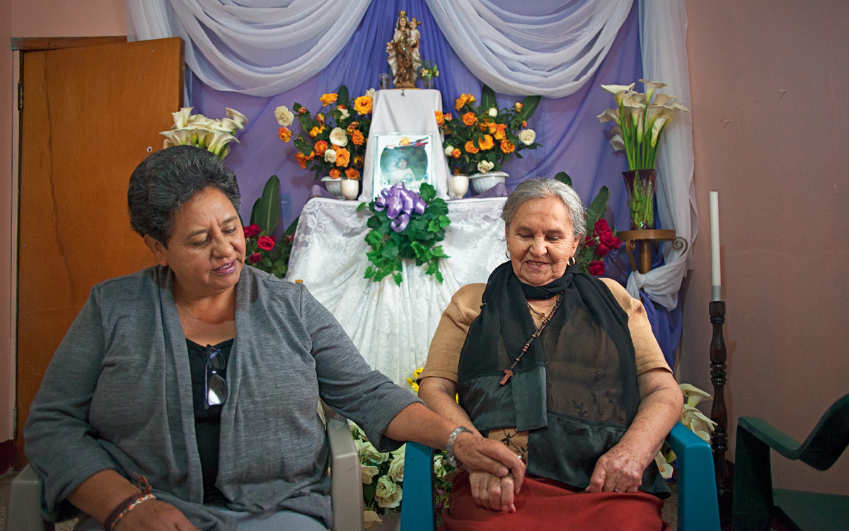 Berta Caceres's sister and mother