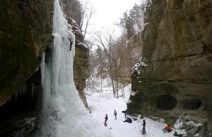 Ice climbers tackle frozen waterfalls at Starved Rock State Park. Chris Young/The State Journal-Register.
