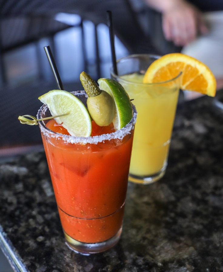 Spicy Bloody Mary and Screwdriver