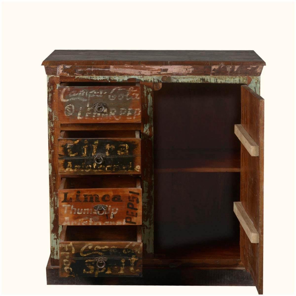 Nostalgic Market Labels Reclaimed Wood Storage Entryway