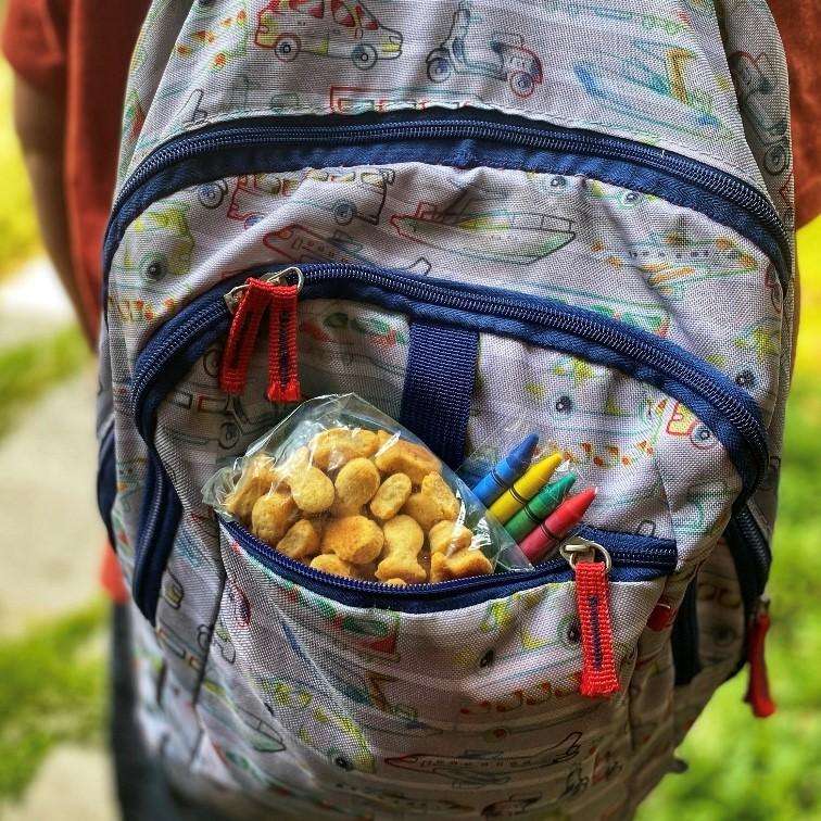 cheddar goldfish backpack