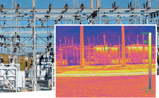 Infrastructure monitoring with thermal camera