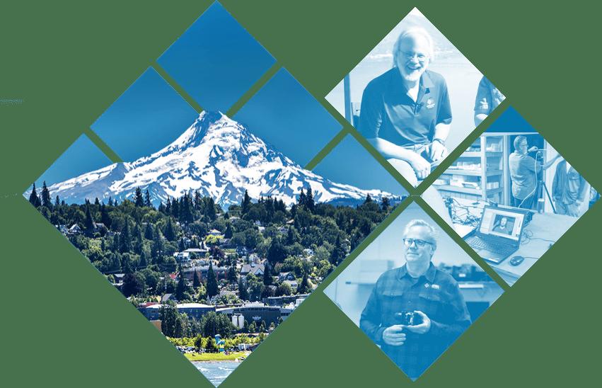 Sierra-Olympic team and hometown of Hood River, Oregon