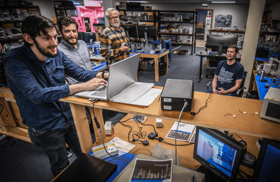 Sierra-Olympic engineers problem solving in the lab
