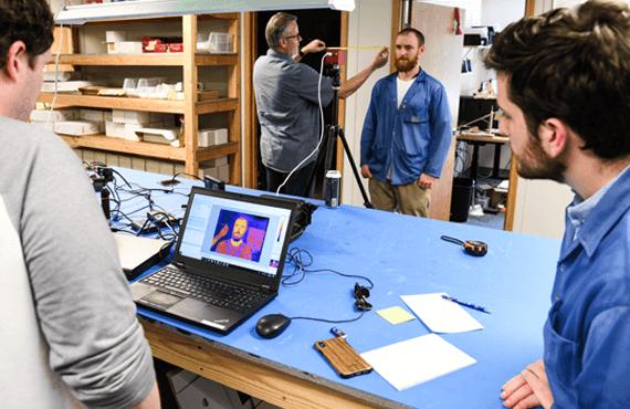 Image of Sierra-Olympic engineers working in the lab