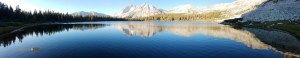 Lower Young Lake Pano with MT Conness and White Mountain Peaks