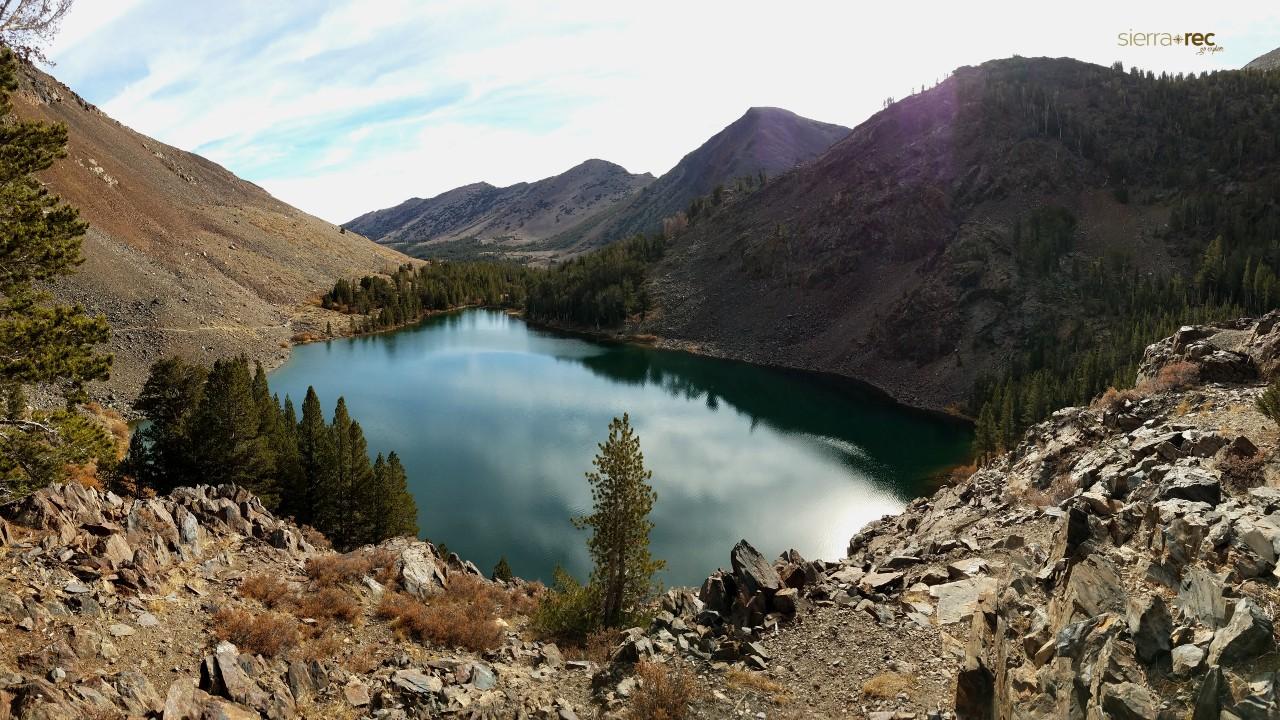 Blue Lake in Virginia Lakes Basin California