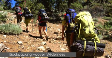 Backpackers Hiking hoover Wilderness
