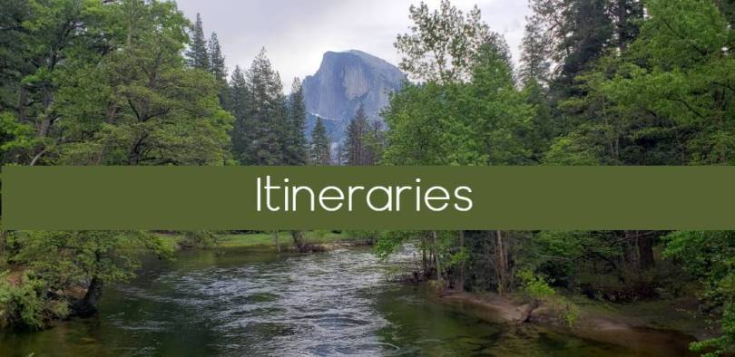 Yosemite itineraries