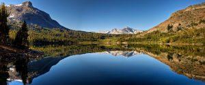 Tioga Lake Reflection Panorama