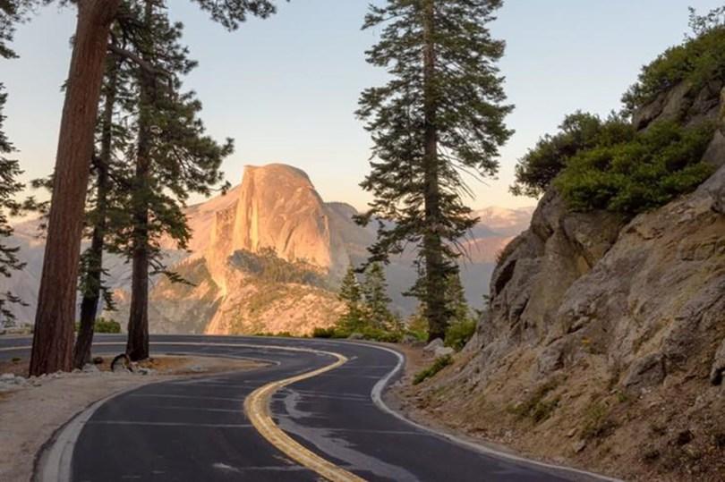 Glacier Point road image