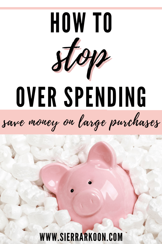 stop over spending to save money