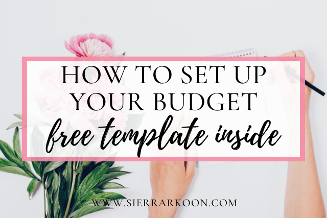 set up your budget