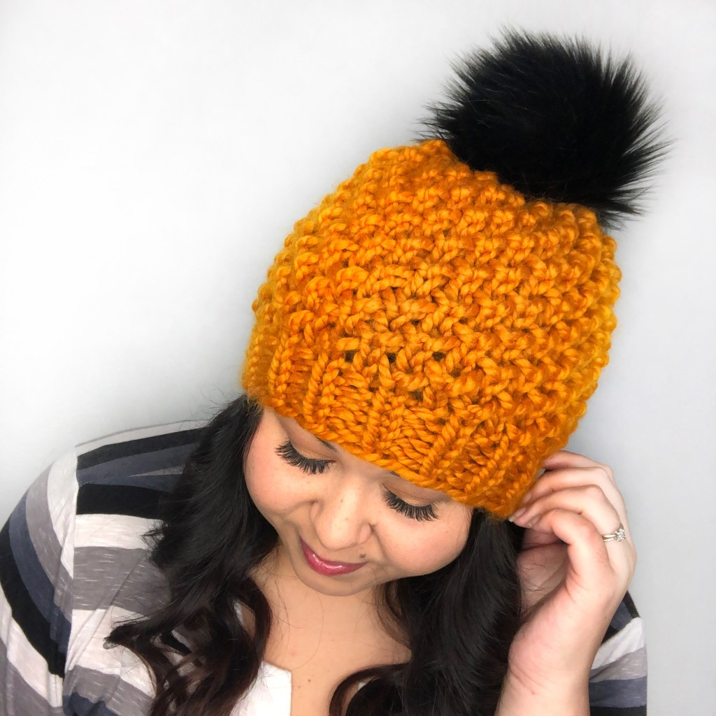 1ae5b6fc9cd17b ... beanie for someone like me who loves a good quick and fun project. I  whipped this baby up in less then 2 hours! Once you get the round repeats  down this ...