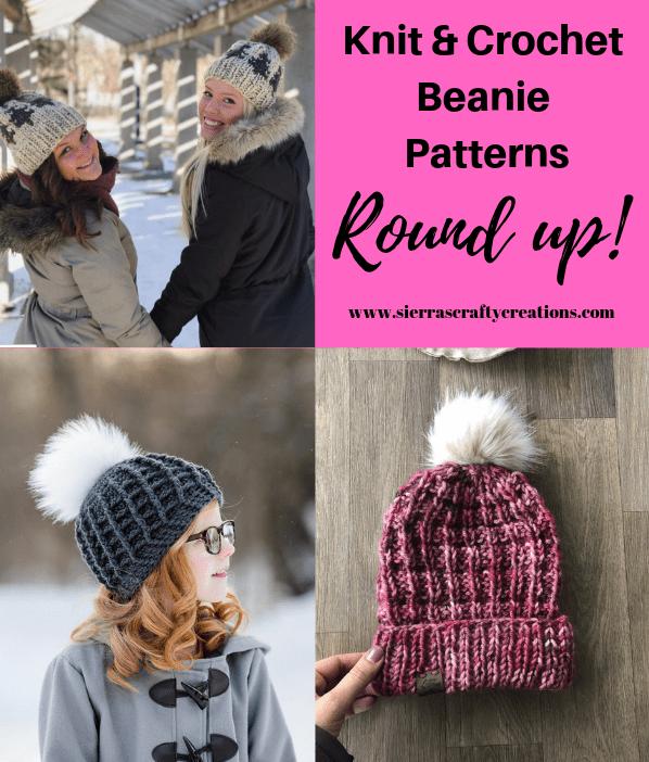 73dc02480a865a Sierra's Picks! Beanie Pattern Round-up! - Sierra's Crafty Creations