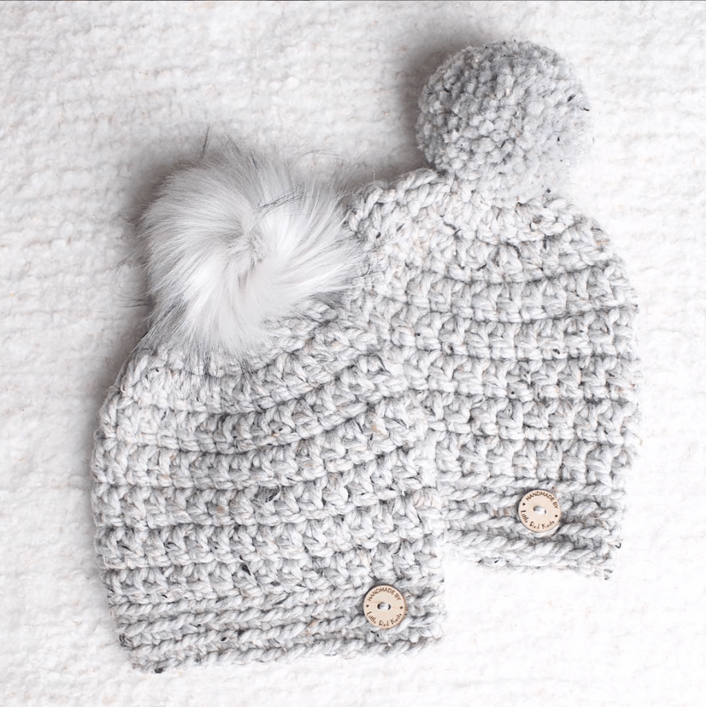 """b9f037f74aa40a Next up we have these squishy soft beanies. These are called the """"Slightly  Slouchy Pom Beanie"""", created by Gianna from @littleredknits. I follow ..."""