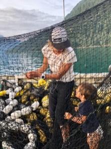 newphew and fishing nets