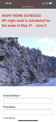rockslides nd road closures made for a last minute change of plans