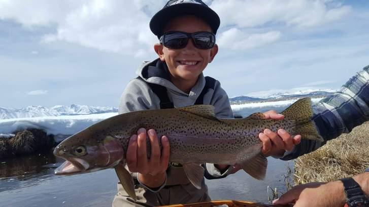 Full finned Upper Owens River Rainbow