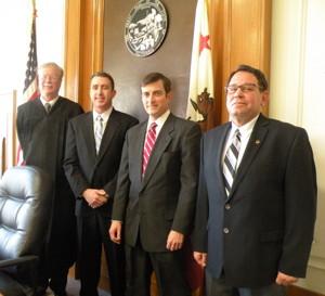 (l-r) Judge Dean Stout, Supervisors Mark Tillemans, Jeff Griffiths and Matt Kingsley.