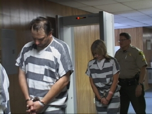 The Rossys walked to the courtroom for arraignments April 12th.