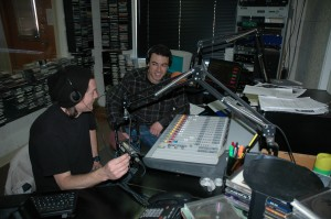 (l-r) Kyle Scalise and Rob Gill go live Friday nights.