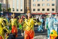 Главное шествие карнавала на Тенерифе в 2016 году — огненные костюмы