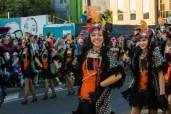 Главное шествие карнавала на Тенерифе в 2016 году — джазовые девушки