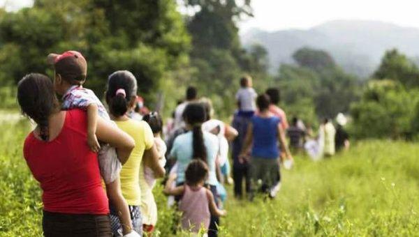 En el recorrido con los migrantes