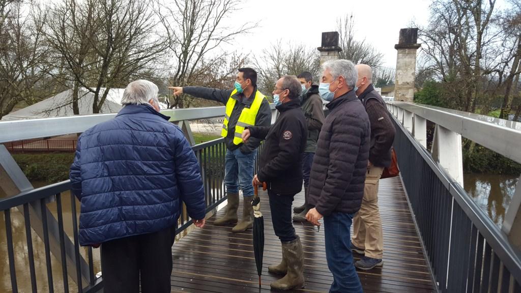 visite de chantier a coutras syndicat