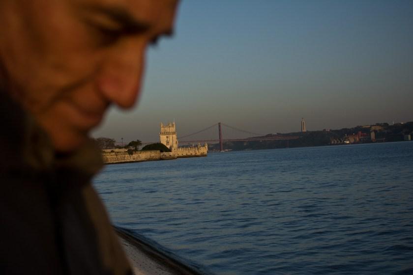 Portugal, Lisboa. Río Tajo y torre de Belem