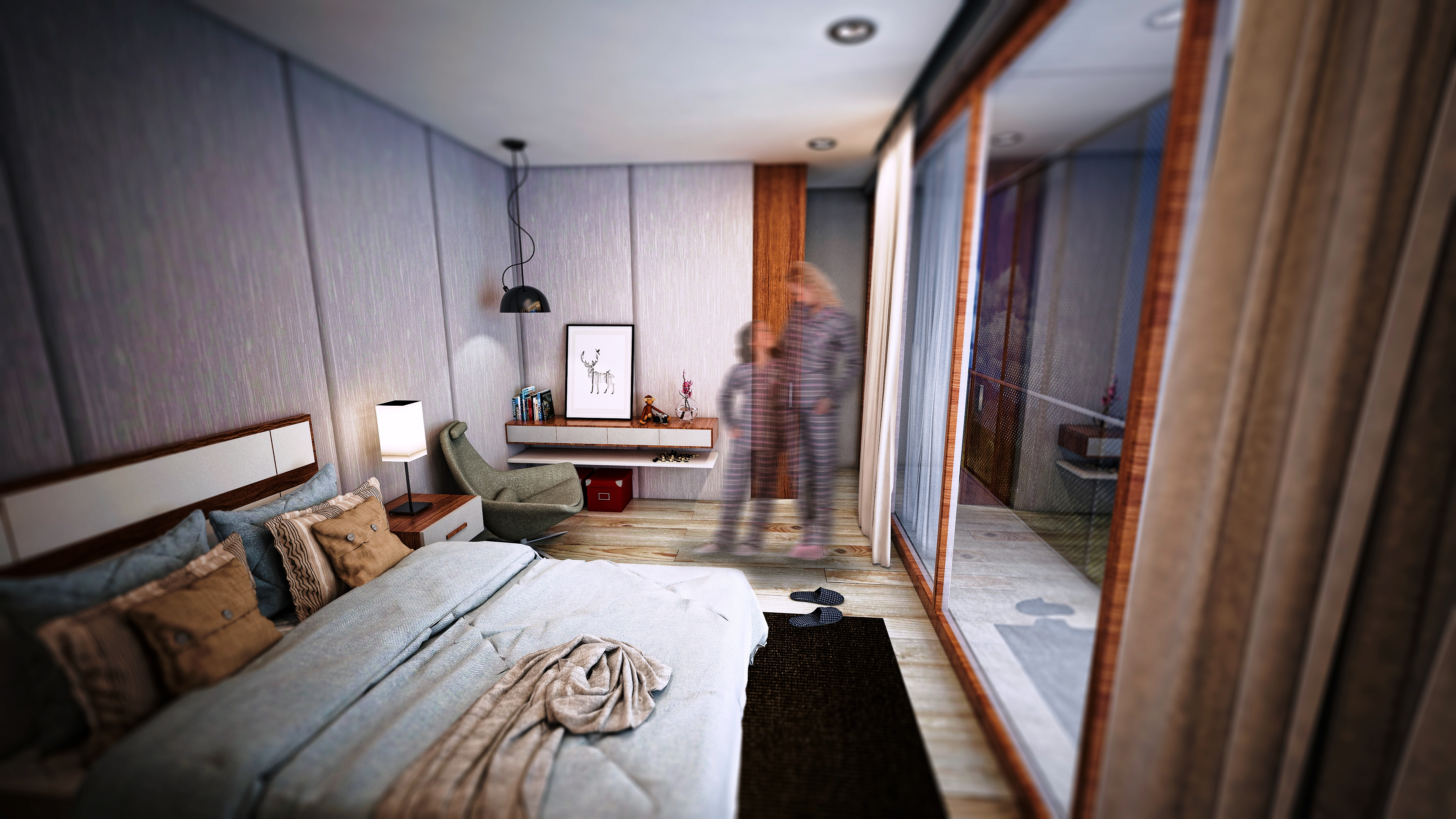 sietequince proyecto viviendas arquitectura passivhaus dormitorio
