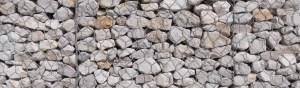 fachadas de gaviones arido machaqueo