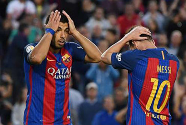 Barca chiến thắng Roma trong nỗi lo về Suarez và Messi