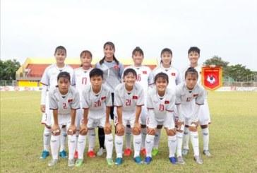 U16 nữ Việt Nam dành chiến thắng 4-0 trước tuyển Singapore