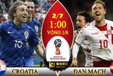 Soi kèo nhà cái Croatia vs Đan Mạch, 01h00 ngày 2/7 World Cup 2018