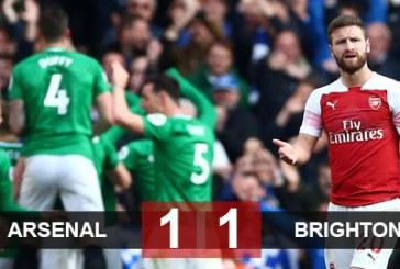 Arsenal hòa vì sai lầm ngớ ngẩn, Top 4 ngày càng xa tầm tay