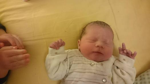 Siobhán as a new born