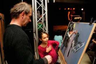 peintre, enfant, admiration