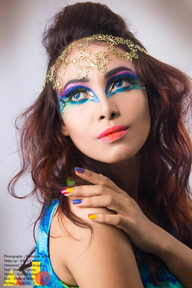 Creative makeup for photoshoot