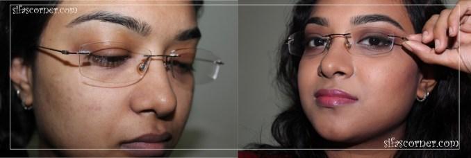 Neutral Smokey eyes for Glasses