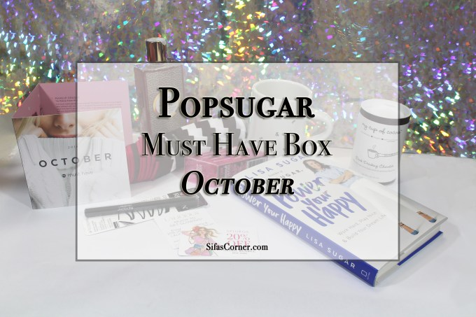 October POPSUGAR Must Have Subscription Box