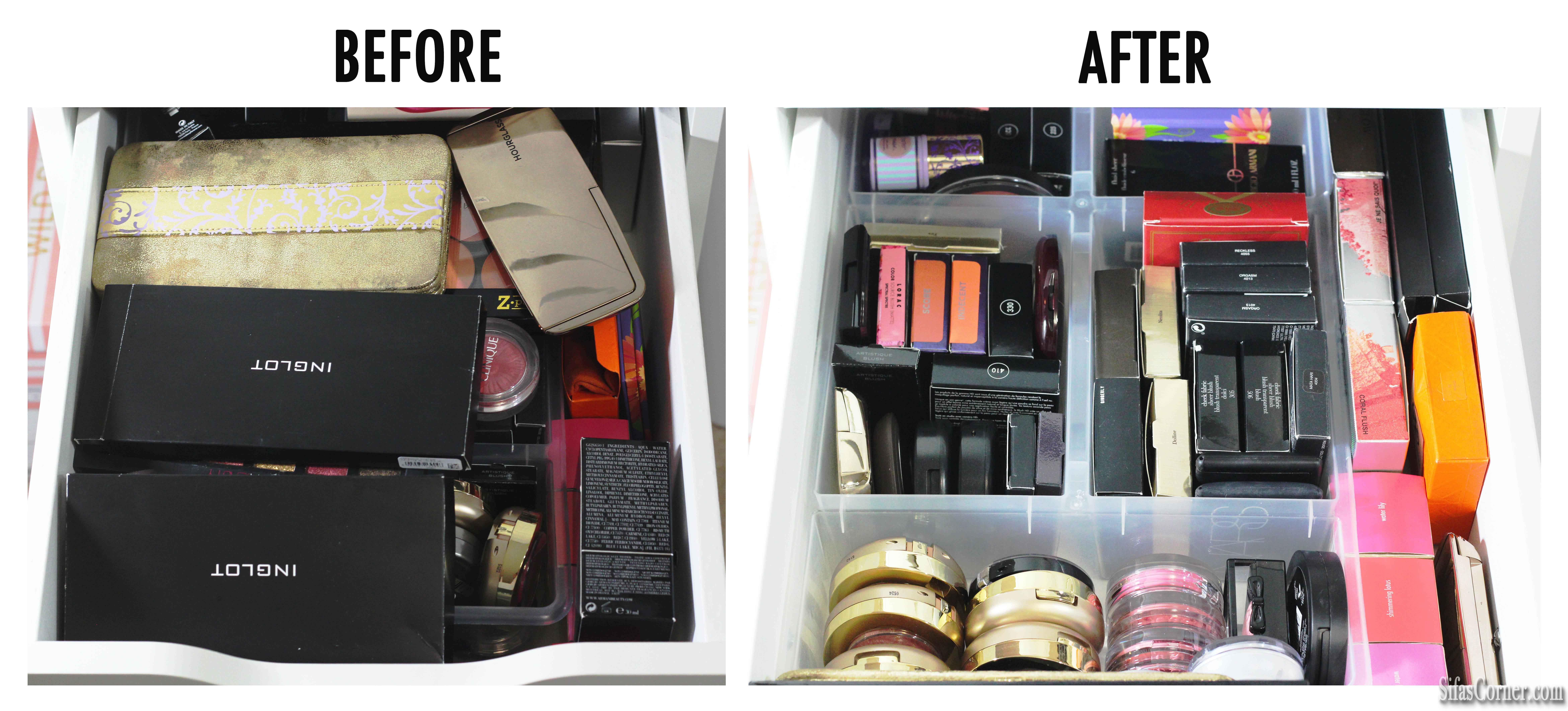 makeup blush organization