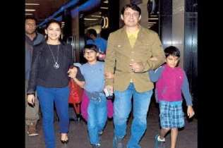 Madhuri Dixit Family Photo