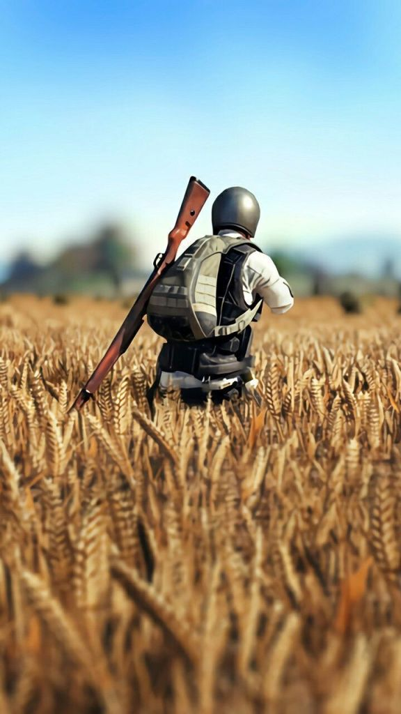 PUBG player in field
