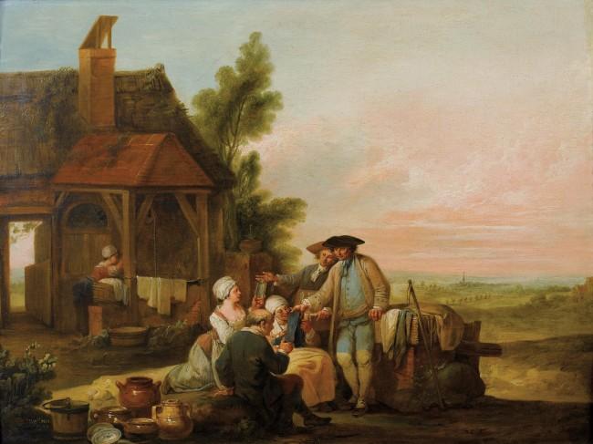 The Peddler_Louis Joseph Watteau(1731-1789)_1779