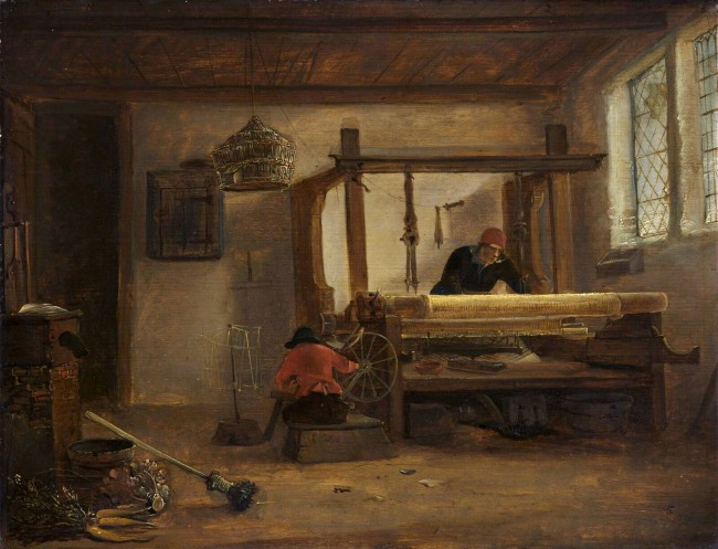 A Weaver's Workshop_Cornelis Gerritsz Decker(1615-1678)_
