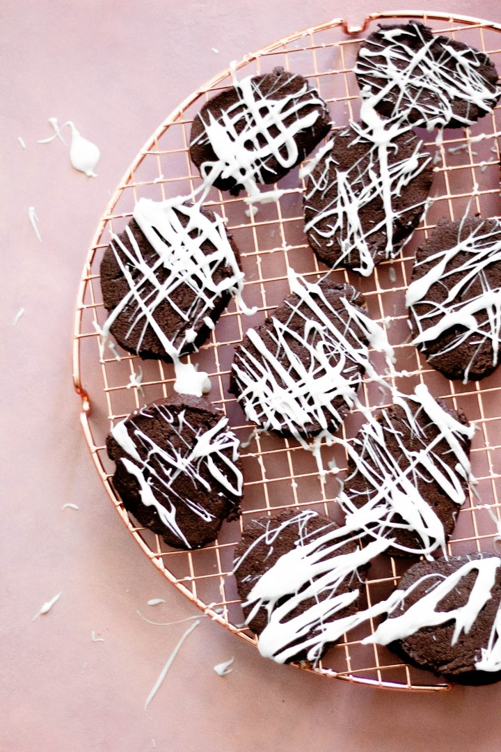 Mexican Hot Chocolate Cookies on a cookie tray.