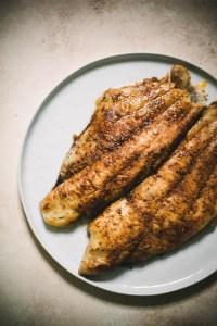 Cajun Catfish Recipe on a plate